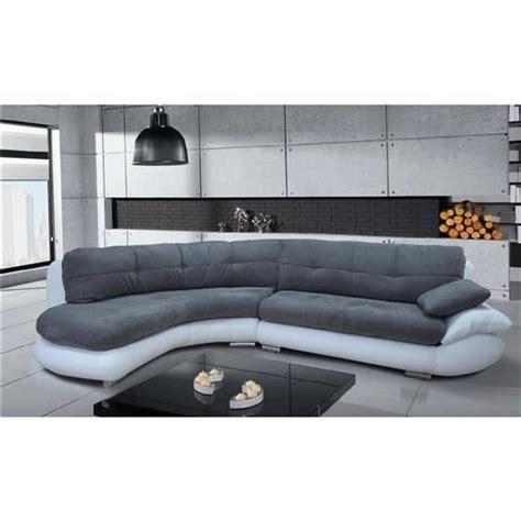 canape blanc et gris canapé d 39 angle regal gris et blanc angle gauche achat