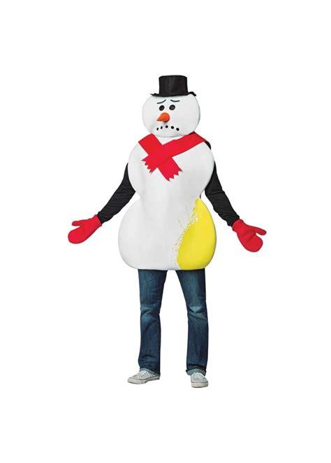 yellow snowman men costume christmas costumes
