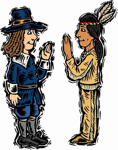 Native Clip American Clipart Americans Cliparts Thanksgiving
