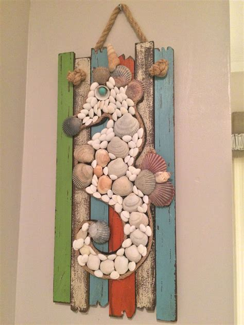 sea horse  images seashell crafts shell crafts