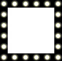 Vanity Mirror With Light Bulbs Around It by Clipart Showbiz Make Up Mirror Style Frame