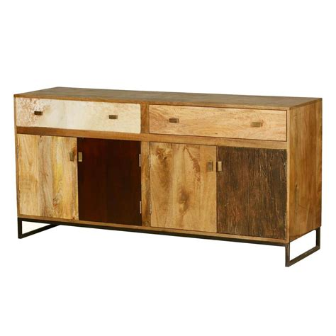 Wood Sideboard Buffet by 60 S Retro Rustic Mango Wood 2 Drawer Sideboard Cabinet