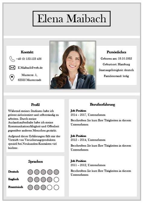 Richtiger Lebenslauf by Moderne Lebensl 228 Ufe Premium Bewerbungsvorlage