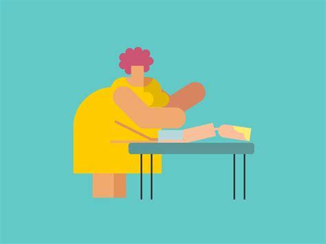 Massage Loop #3   Motion design, Character design, Cool