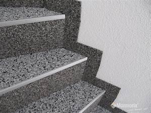 Beläge Für Treppenstufen Innen : marmorix steinteppich verlegebeispiele treppen ~ Michelbontemps.com Haus und Dekorationen