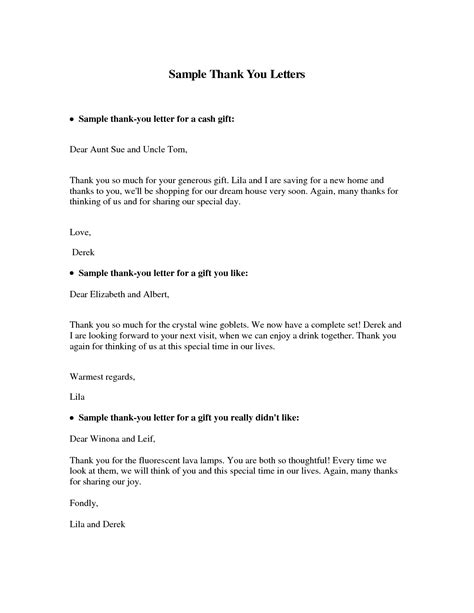 thank you letter for gift best photos of money gift letter sle gift donation 20160