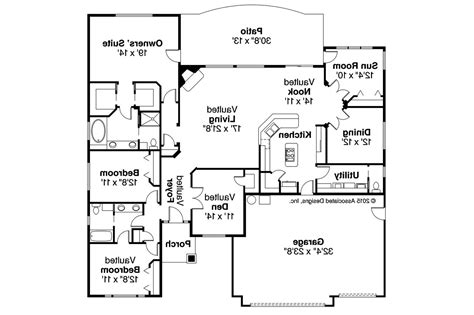 Ranch House Plans  Ryland 30336  Associated Designs