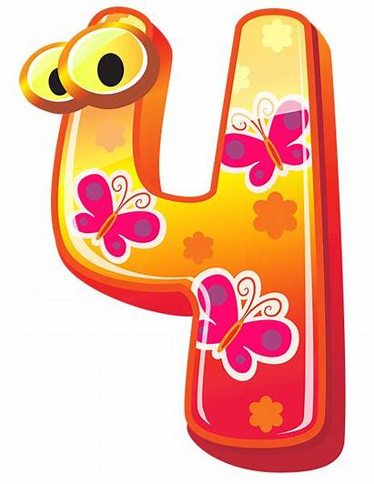 Number Numbers Clipart Yopriceville Birthday Fun Four