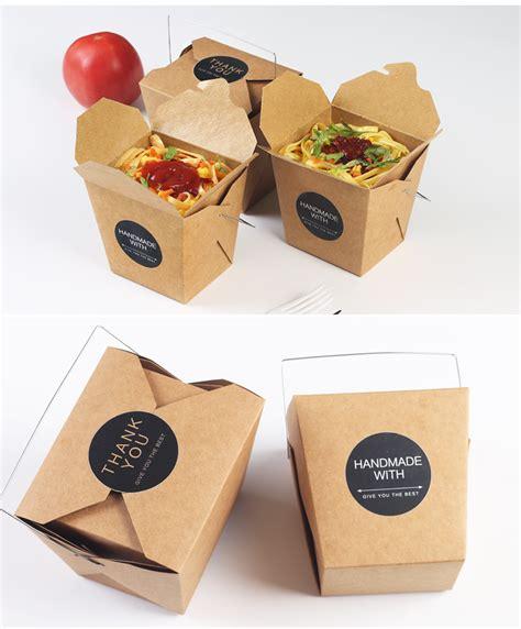 box cuisine 15pcs lot salad box ᐂ kraft paper cake box sandwich