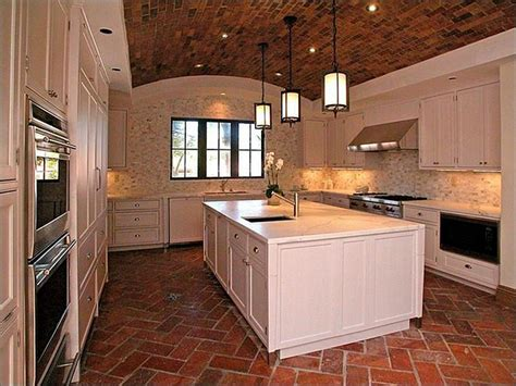 Brick Kitchen Floor by Whitehaven Kitchens With Brick Floors