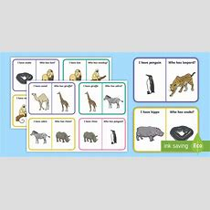 * New * Zoo Animal Vocabulary Loop Cards  Early Language