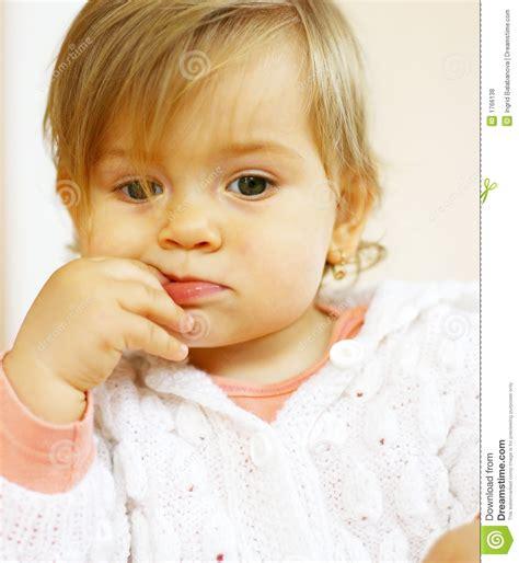 Small Baby Thinking Royalty Free Stock Photos  Image 1766138