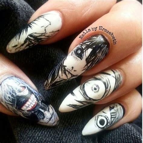 tokyo ghoul nails anime pinterest tokyo tokyo ghoul