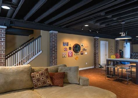 unfinished basement ceiling paint ideas basement ceiling ideas exposed ducts painted home