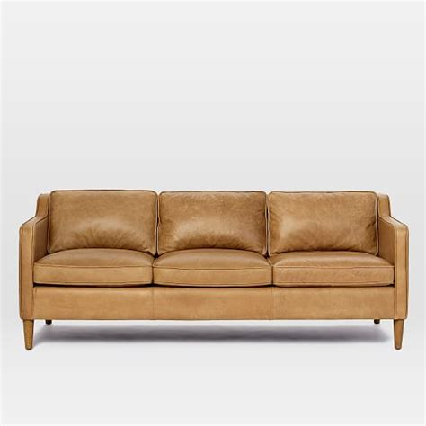 west elm hamilton leather sofa hamilton leather sofa 81 quot west elm