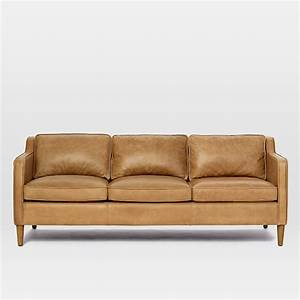 hamilton leather sofa 81quot west elm With west elm sectional sofa leather