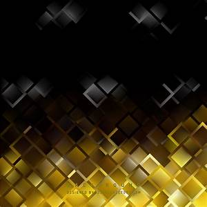 Abstract Black Yellow Square Background Template ...