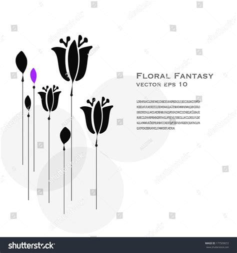 floral silhouette vector stock vector  shutterstock