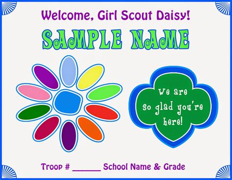 Printable Hand Coloring Page Template Girl Scout Promise