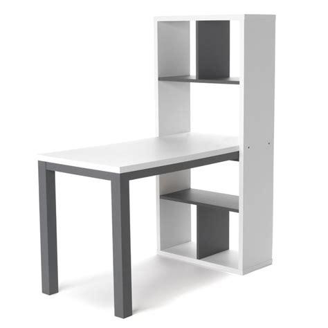 alinea bureau junior bureau avec rangements blanc et gris finca les bureaux