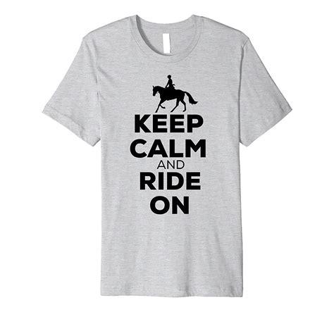 horse funny shirt riding canter sleeve shirts tee calm keep short printed