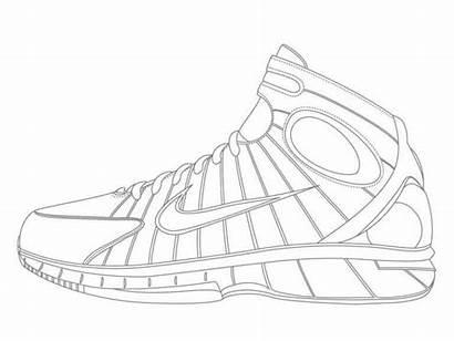 Coloring Jordan Shoes Printables Pages Printable