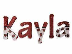 Image Gallery kayla letters