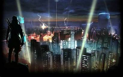 Cyberpunk Shadowrun Sci Fi Futuristic Warrior Cities