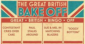 GAME: Great British Bake Off Bingo - Mirror Online
