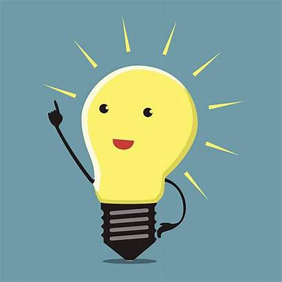 Moment Lightbulb Creative Making Decision Inspired Vector
