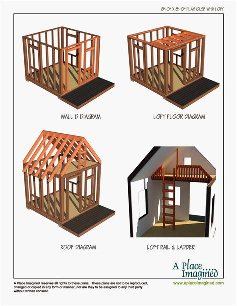 8x8 Shed Plans With Loft by Aplaceimagined 8 X8 Playhouse With Loft