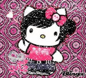 hello kitty glitter rain picture 101840253 blingee com