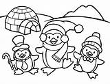 Penguin Coloring Pages Penguins Printable Everfreecoloring Wings sketch template