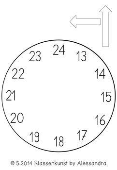 Uhr Zum Basteln Bastelvorlage Uhr Clock Template By Klassenkunst Tpt