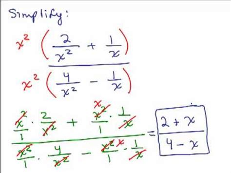 Simplify Complex Fractions 2 Youtube