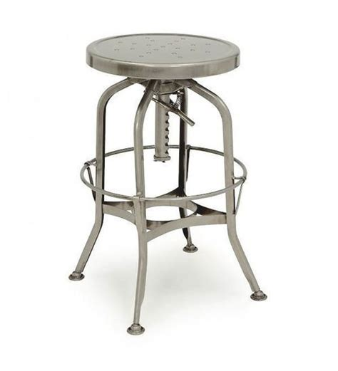 Vintage Toledo Bar Chair Gunmetal by Toledo Gunmetal Adjustable Industrial Bar Stool Zin Home