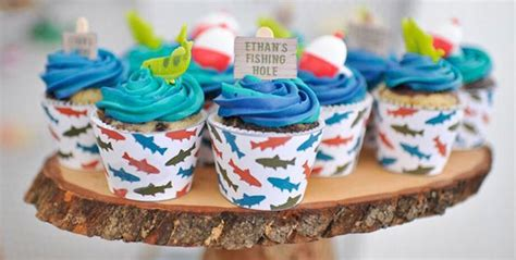 Kara39s Party Ideas Colorful Gone Fishing Birthday