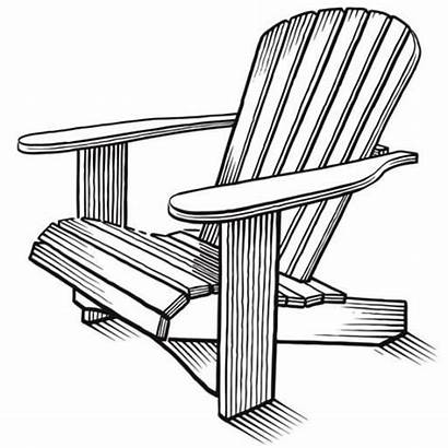 Adirondack Chairs Chair Drawing Draw Drawings Furniture