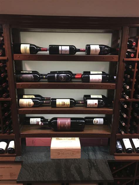 custom mahogany wine cellar fabricated  mk designs