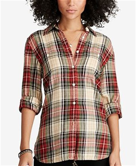 denim supply ralph plaid utility shirt tops macy s