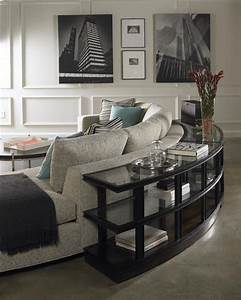 love the round sofa table from vanguard furniture family With curved sofa table for sectional