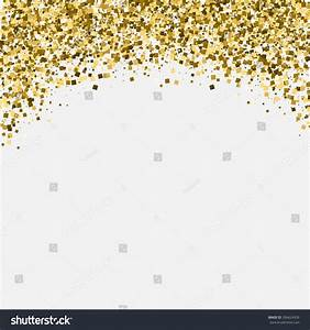 Gold Glitter Shimmery Heading Invitation Card Stock Vector ...
