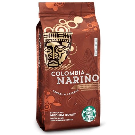 The region adds to a he flavor of the bean. Starbucks Colombia Narino Medium Roast Whole Bean Arabica Coffee