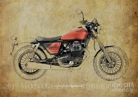 Moto Guzzi V9 Bobber Backgrounds by 2019 Moto Guzzi V9 Bobber Sport Blueprint Vintage