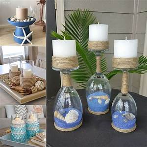 Mesmerizing, Diy, Coastal, Candle, Holder, Ideas