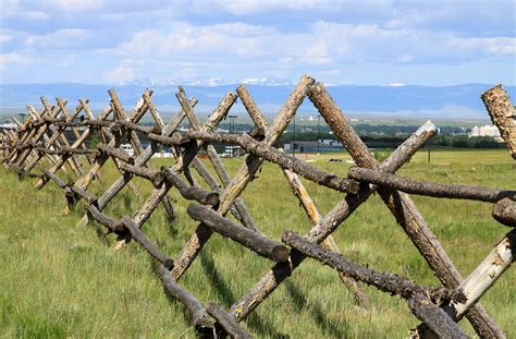 An Old Style Buck-and-rail Fence, Laramie