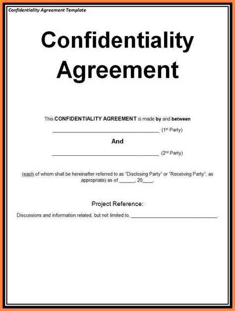 lease purchase 7 generic non disclosure agreement template purchase