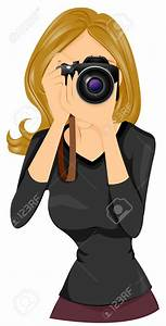 graphy clipart female photographer Pencil and in