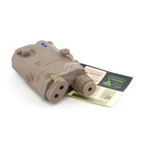Peq 15 La 5 Battery Case With Green Laser Tan Jj Airsoft