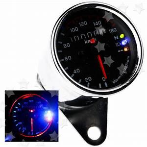 Motorcycle Dual Odometer Speedometer Gauge Led Background